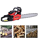 Ridgeyard 22' 52CC Professional 2-Stroke Petrol Chainsaw Wood Cutting Gasoline Chainsaw with Aluminum Crankshaft Powerful Chainsaw