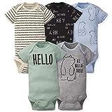 Gerber Baby Boys 5-Pack Variety Onesies Bodysuits, Hello Bear, Newborn