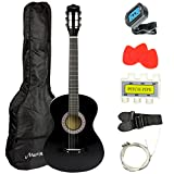 Martin Smith 38 Inch Acoustic Guitar, Black, With Case, Pick, Tuner, Strap, Extra Strings and 2 months of Lessons