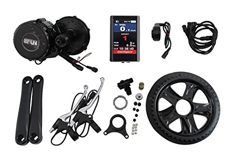 BBS02 Colorida Pantalla LCD 850C 48V 750W Bafang 8fun Mid-Drive Motor Conversion Kits with built Bottom Bracket width:68mm
