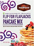 Madhava Naturally Sweet Organic Ancient Grains Baking Mix, Flip for Flapjacks Pancake, 16 Ounce (Pack of 6) - PACKAGING MAY VARY