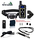 My Pet Command 1.25 Mile (6600 Ft) Long Range Safe Dog Hunting and Training Collar with Remote Shock Vibrate Tone and Flashing Beacon Lights Waterproof Rechargeable add Up to 3 Collars Bonus