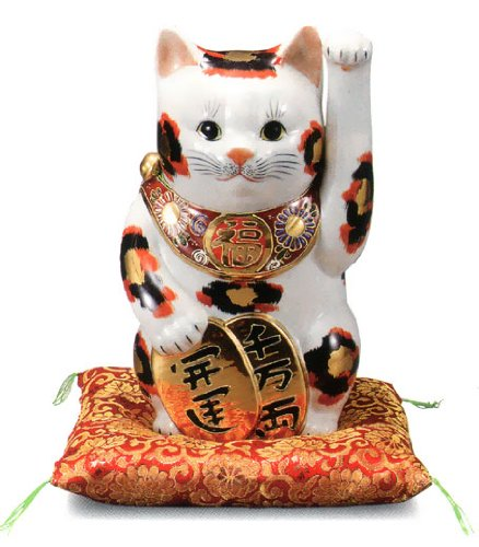 No. 8 oval lucky cat gold tortoiseshell [ Kutani ]