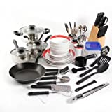 Gibson Home Essential Total Kitchen 83-Piece Combo Set, Red