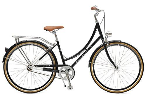 Retrospec Venus Dutch Step-Thru City Comfort Hybrid Bike, Black, 7-Speed / 44cm, m/l