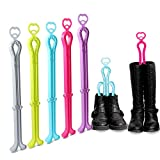 ONEDONE Folding Boot Shaper Stands Boots Knee High Shoes Clip Support Stand -5Pack