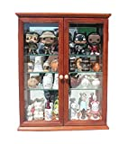Product review for Small Wall Mounted Curio Cabinet / Wall Display Case with glass door (Mahogany Finish)