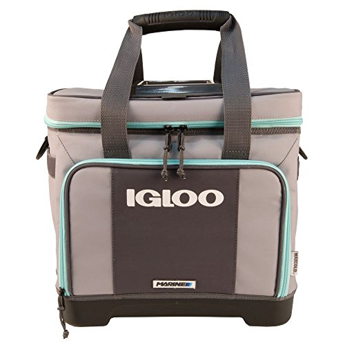 Igloo Stout Divided Marine Cooler-Gray/Seafoam, Grey