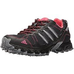 adidas Originals Women's Rockadia Trail W Running Shoe, Grey/Black/Pink, 8 M US