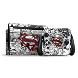 Skinit Decal Gaming Skin for Nintendo Switch Bundle - Officially Licensed Warner Bros Superman Comic Logo in Red Design