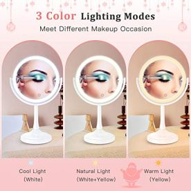 BESTOPE Lighted Makeup Mirror with Lights 7X Magnifying Mirror