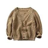 Product review for Top Cheer Little Boys' Slim Cardigan V-neck Buttons Spring/Autumn Solid Sweater