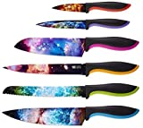 Cosmos Kitchen Knife Set in Gift Box - Unique Gifts For Men and For Women - 6-Piece Colorful Cooking Chef Knives Set