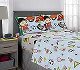 Franco Kids Bedding Super Soft Microfiber Sheet Set, 4 Piece Full Size, Ryan's World