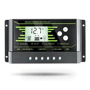 PowMr 10A 12V 24V Intelligent Solar Panel Battery Regulator Charge Controller Switch LCD Display