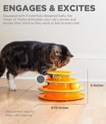 Petstages-Tower-of-Tracks-Cat-Toy-3-Levels-of-Interactive-Play-Circle-Track-with-Moving-Balls-Satisfies-Kittys-Hunting-Chasing-and-Exercising-Needs