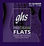 GHS Strings 5-String Bass Precision Flats, Stainless Steel Flatwound, 37.25' Winding, Medium (.045.126) (M3050-5)
