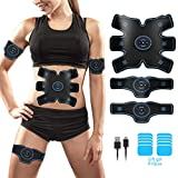 ABS Stimulator, Muscle Toner - Abs Stimulating Belt - Training Device for Muscles- Wireless Portable to-Go Gym Device- Muscle Sculpting at Home- Fitness Equipment for at-Home Workouts