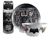 """Zak Designs DC Comics """"Justice League"""" Dinnerware Set Set! Includes Plate, Bowl & Water Bottle! BPA Free, 3pc"""