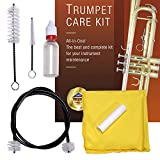 Libretto Trumpet (Cornet) Care Kit- Valve Oil + Slide Grease + Microfiber Cloth + Brushes for Mouthpiece & Valve & Bore, Time to Clean/Maintain & Good to Extend the Life of your Musical Instrument!