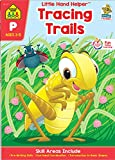 School Zone - Tracing Trails Pre-Writing Skills Workbook, Preschool and Kindergarten, Ages 3 to 5, Shapes, Following Directions, Alphabet, ... Helper Book Series) (Little Hand Helpers)