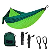 SHINE HAI Double Camping Hammock, Portable Lightweight Parachute Nylon Garden Hammock, Two Persons Bed for Backpacking, Camping, Travel, Beach, Yard