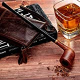 Tobacco Smoking Pipe Set, Handmade Pear Wood Churchwarden Kit with Smoking Accessories by Capo Lily