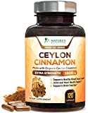 Organic Ceylon Cinnamon Capsules - Extra Strength 1800mg - Promotes Healthy Metabolism and Blood Sugar Levels, Anti-Inflammatory for Joint Pain Relief, Heart Health Supplement Pills - 120 Capsules