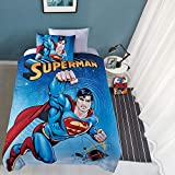 """JPI Plush Throw Blanket - Superman Universe - Twin Bed 60""""x 80"""" - Faux Fur Blanket for Home Decor, Bedding Sets, Sofa Bed, Couch, Picnic Blanket, Camping Blanket"""