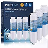 Compatible GE GSWF Refrigerator Water Filter Replacement with Advanced Filtration. Also Fits Kenmore 46-9914, 9914, 469914, GSWFDS, AP3418061, 238C2334P001, By Pure Line (3 Pack)