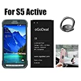 oGoDeal S5 Active Battery Replacement for Samsung Galaxy S5 Active AT&T SM-G870a Battery and Samsung Galaxy S5 Sport SM-G860p 2800mAh Battery with NFC