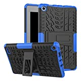 Maomi Amazon Fire 7 (2017 Release) Case,[Kickstand Feature],Shock-Absorption/High Impact Resistant Heavy Duty Armor Defender Case for Kindle fire 7 Inch 2017 (Blue)