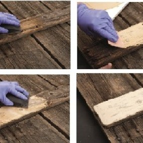 Step-by-step of how to repair rotted wood
