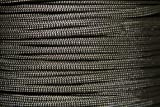 550lb Military Spec Paracord/Parachute Type 3 with 7 Internal Strands Made By A Government Approved Supplier in The U.S.A. (Dark Gray, 50 Feet)