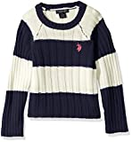 Product review for U.S. Polo Assn. Girls' Striped Raglan Sleeve Drop Needle Cropped Sweater