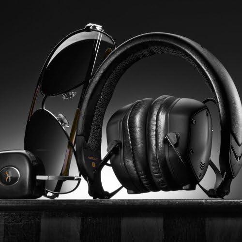 V-MODA XS On-Ear Folding Design Noise-Isolating Metal Headphone (Matte Black Metal)
