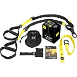 TRX All In One Suspension Training System: Full Body Workouts for Home, Travel, and Outdoors   Includes Indoor & Outdoor Anchors, Workout Guide and Video Downloads