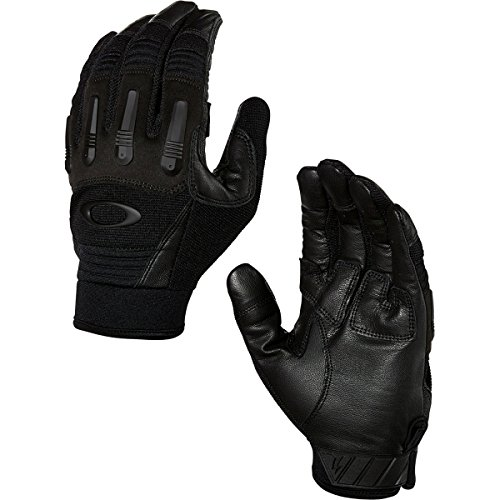 Oakley Transition Tactical Mens Snow Snowmobile Gloves - Jet Black/Large