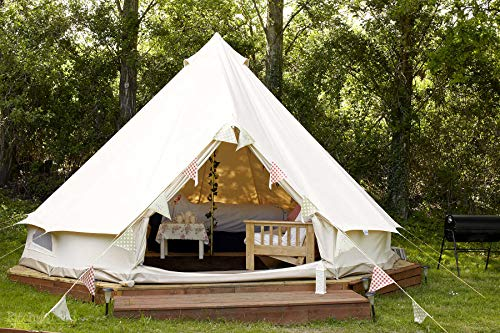 Outdoor-Waterproof-Luxury-Glamping-Bell-Tents-for-Boutique-Camping-and-Occasional-Family-Camping-Trips-and-Festivals-and-Human-shelter-for-inhabiting-or-Leisure