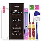 Aslanka Battery for Model iPhone 6, High Capacity 2200mAh Battery Replacement with Repair Tool Kit, Include Instructions and Screen Protector -[2-Year Warranty]