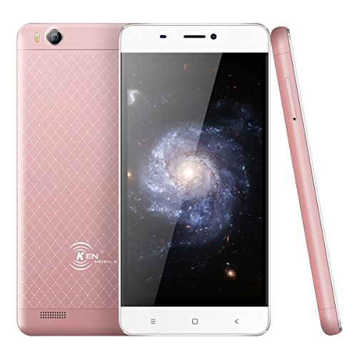 Ken V6 4.5 Inch, RAM 1GB + ROM 8GB, FHD Screen 1700mAh Bluetooth v3.0 Network 2G/3G Android 6.0 T-Mobile SC7731C Dual SIM Cell Phone Ultrathin Unlocked Smartphone(Rosegolden)