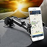 JINGJIA Universal Car Mount Holder for iPhone, Long Neck One Touch Car Mount Holder for iPhone X 8 7 7s 6s Plus 6s 5s 5c Samsung Galaxy S8 Edge S7 S6 Note 5 Car Stand and more (Black)