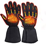 YDZN Heated Gloves Battery Powered Waterproof for Motorcycle Cycling Hunting Skiing Skating Winter Warmer,Up to 8 Hours