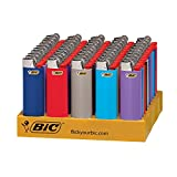 BIC Classic Lighter, Assorted Colors, 50-Count Tray