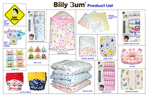 51f8Nd4fl8L Billy Bum Washcloth for New Born 100% Hosiery Cotton/Reusable Further Tender Face Towels washcloth for Infants (7 items) Shade might range (Pack of 1)