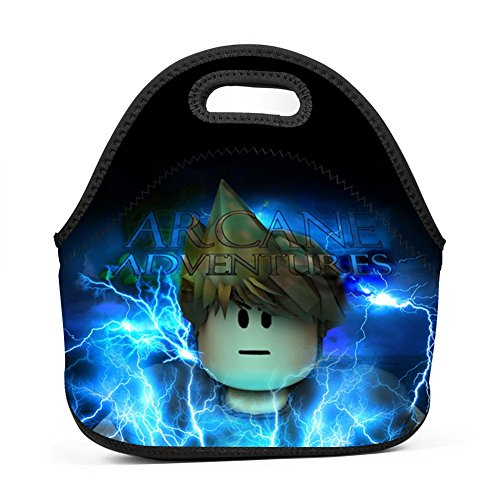 Cily-Bagge Custom Ro-blox Ar-Cane Adventure Lunch Bag for Kids/Men/Women Tote Lunch Box Office/School/Picnic Handbag