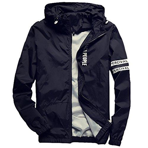 Homaok Men's Lightweight Breathable Jacket Large Black