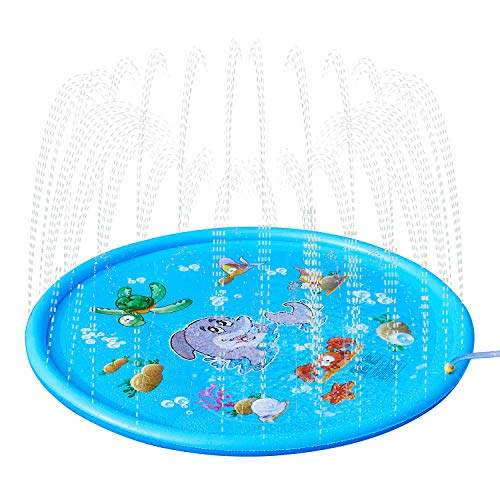 LuaLua Sprinkle & Splash Play Mat 68' for Children Infants Toddlers,Boys, Girls and Kids Perfect Outdoor Watter Toys Sprinkler Pad …