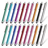 homEdge Stylus Pen Set of 20 Pack, Universal Capacitive Touch Screen Stylus Compatible with iPad, iPhone, Samsung, Kindle Tough, Compatible with All Device with Capacitive Touch Screen – 10 Color
