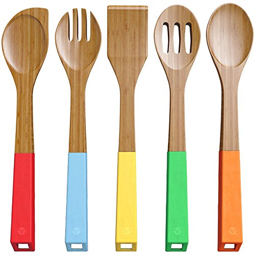 Vremi 5-piece Bamboo Spoons cooking utensils